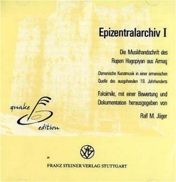 Die Musikhandschrift des Rupen Hagopiyan aus Armas - Coverbild