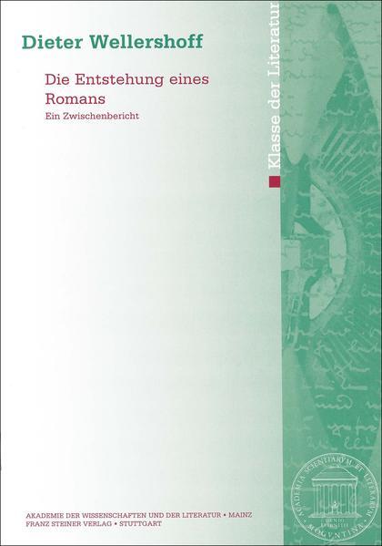Die Entstehung eines Romans - Coverbild