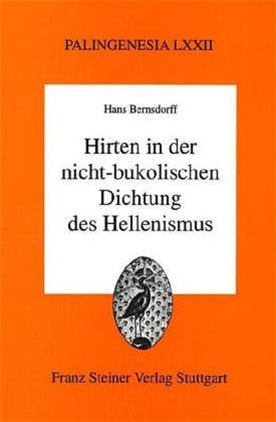 Hirten in der nicht-bukolischen Dichtung des Hellenismus - Coverbild