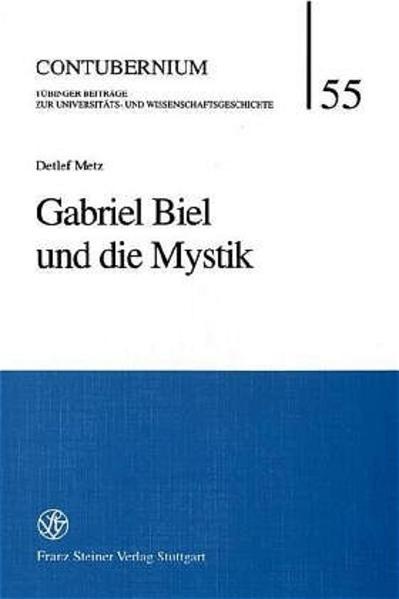 Gabriel Biel und die Mystik - Coverbild