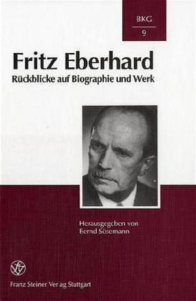 Fritz Eberhard - Coverbild