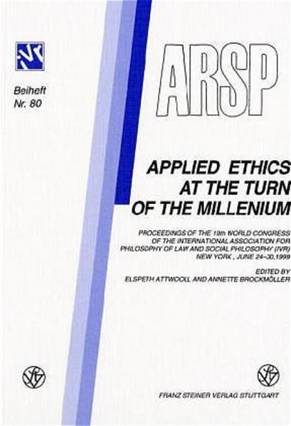 Applied Ethics at the Turn of the Millenium  - Coverbild