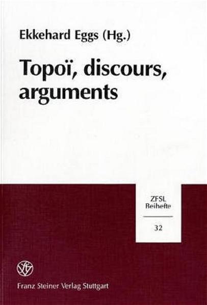 Topoi, discours, arguments - Coverbild