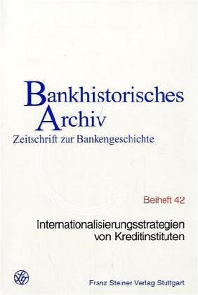 Internationalisierungsstrategien von Kreditinstituten - Coverbild