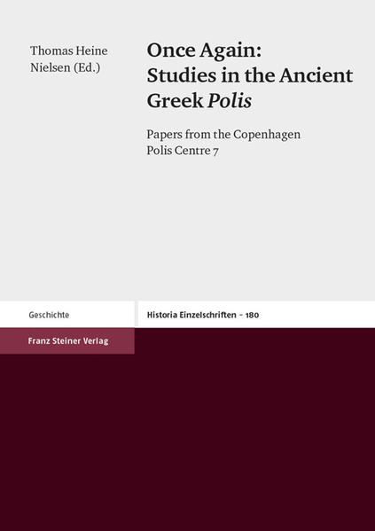 Once Again: Studies in the Ancient Greek Polis - Coverbild