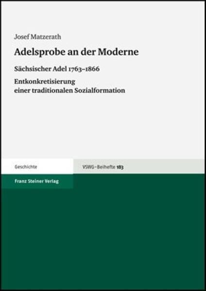 Adelsprobe an der Moderne - Coverbild