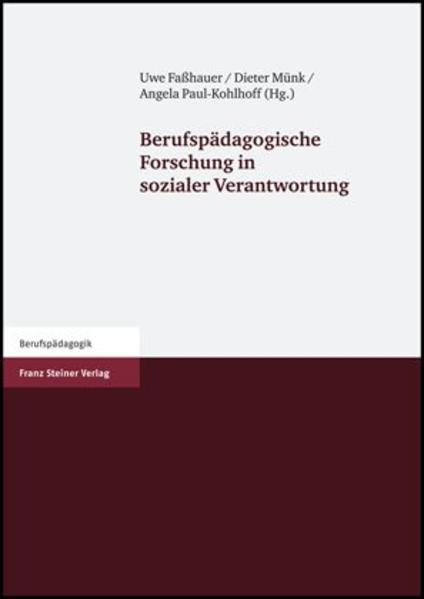 Berufspädagogische Forschung in sozialer Verantwortung - Coverbild