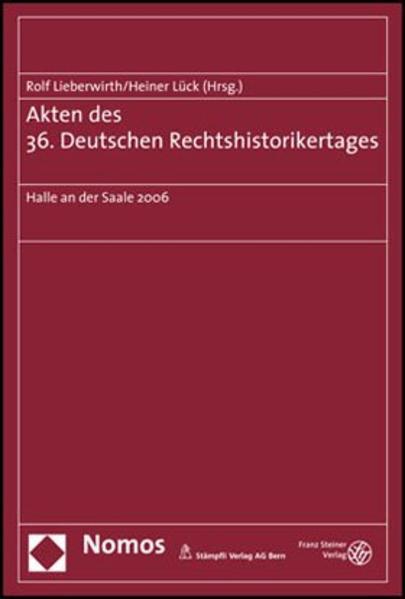 Akten des 36. Deutschen Rechtshistorikertages - Coverbild