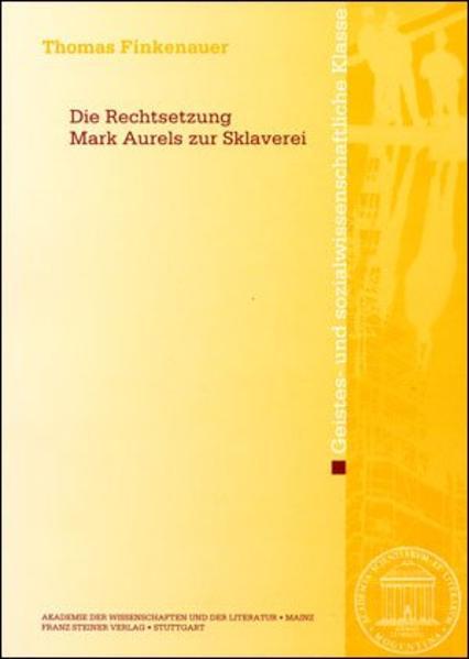 Die Rechtsetzung Marc Aurels zur Sklaverei - Coverbild