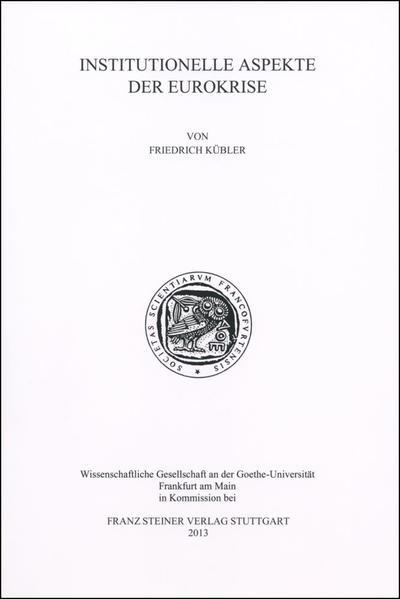 Institutionelle Aspekte der Eurokrise - Coverbild