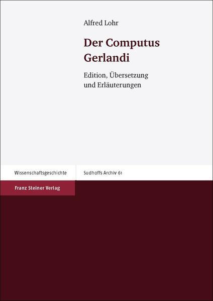 Der Computus Gerlandi - Coverbild