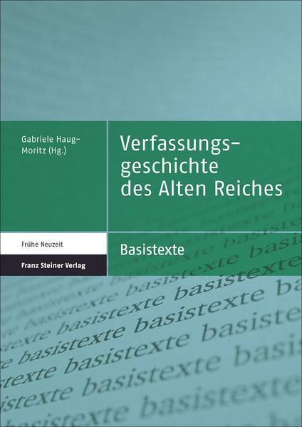 Verfassungsgeschichte des Alten Reiches - Coverbild
