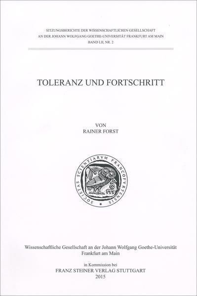 Toleranz und Fortschritt - Coverbild