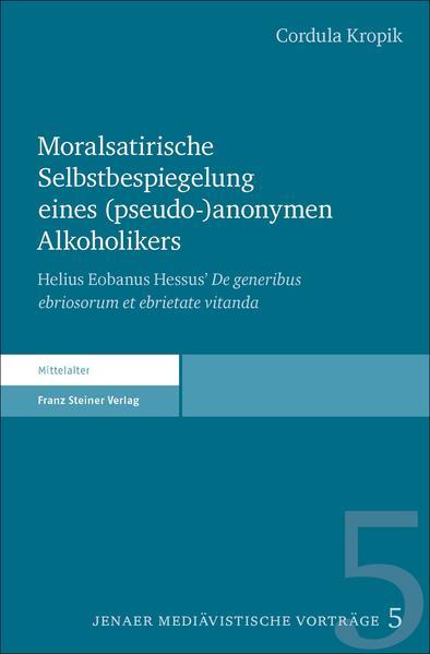Moralsatirische Selbstbespiegelung eines (pseudo-)anonymen Alkoholikers - Coverbild