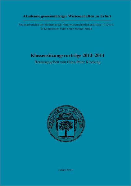 Klassensitzungsvorträge 2013–2014 - Coverbild