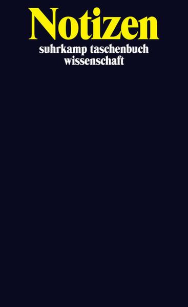 Notizbuch suhrkamp taschenbuch wissenschaft - Coverbild