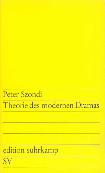 Theorie des modernen Dramas - Coverbild