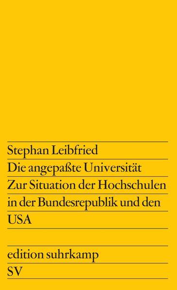 Die angepaßte Universität - Coverbild