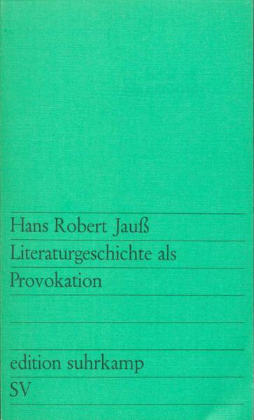 Literaturgeschichte als Provokation - Coverbild