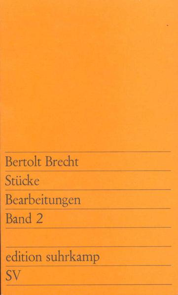 Stücke. Bearbeitungen. Band 2 - Coverbild