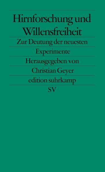 Hirnforschung und Willensfreiheit - Coverbild