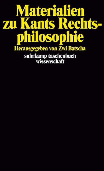 Materialien zu Kants Rechtsphilosophie - Coverbild