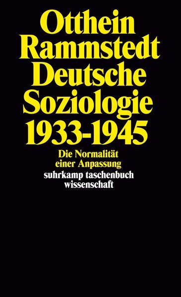 Deutsche Soziologie 1933–1945 - Coverbild