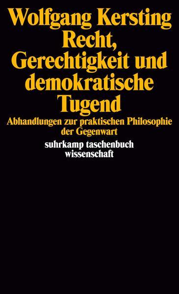 Recht, Gerechtigkeit und demokratische Tugend - Coverbild