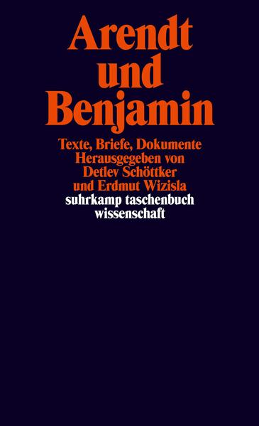 Arendt und Benjamin - Coverbild