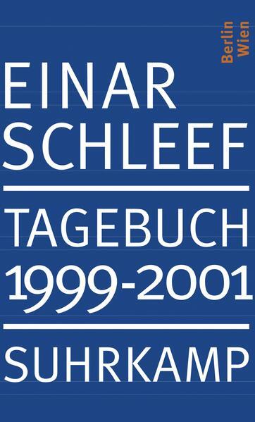 Tagebuch 1999–2001 - Coverbild