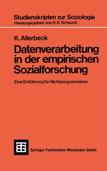 Datenverarbeitung in der Empirischen Sozialforschung - Coverbild