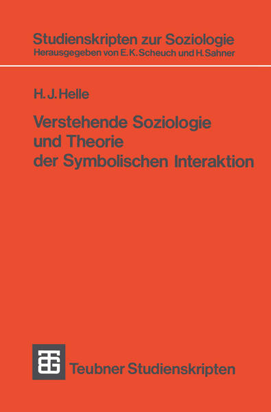 Verstehende Soziologie und Theorie der Symbolischen Interaktion - Coverbild