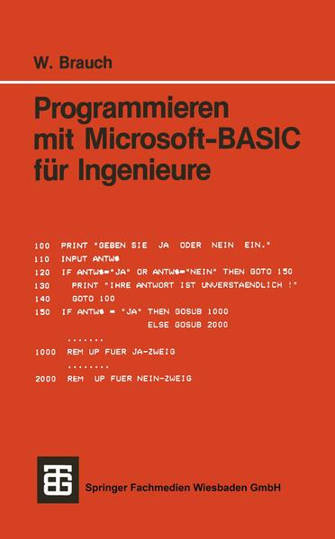 Programmieren mit Microsoft-BASIC für Ingenieure - Coverbild