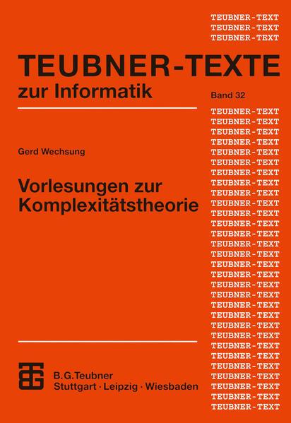 Vorlesungen zur Komplexitätstheorie - Coverbild