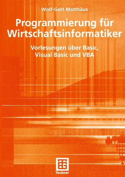 Programmierung für Wirtschaftsinformatiker - Coverbild