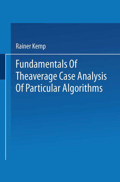 Fundamentals of the Average Case Analysis of Particular Algorithms - Coverbild