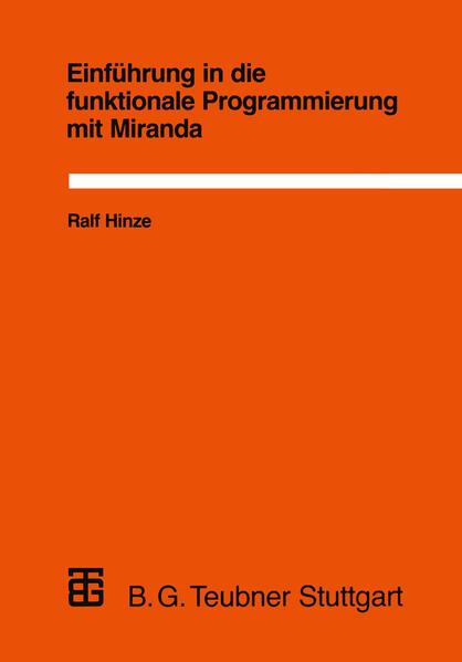 Einführung in die funktionale Programmierung mit Miranda - Coverbild