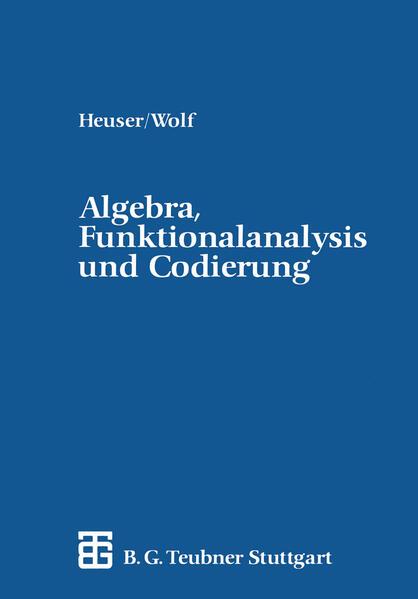 Algebra, Funktionalanalysis und Codierung - Coverbild