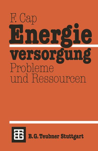 Energieversorgung Probleme und Ressourcen - Coverbild