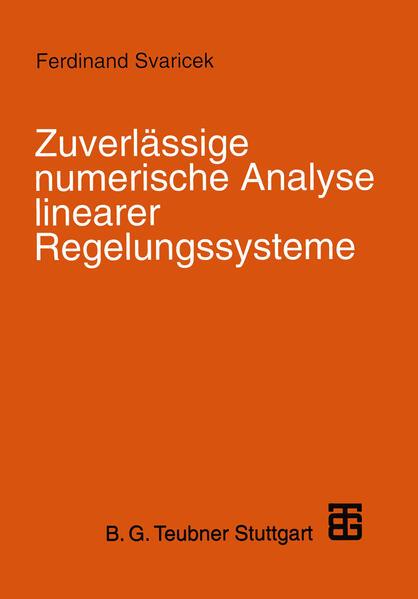 Zuverlässige numerische Analyse linearer Regelungssysteme - Coverbild