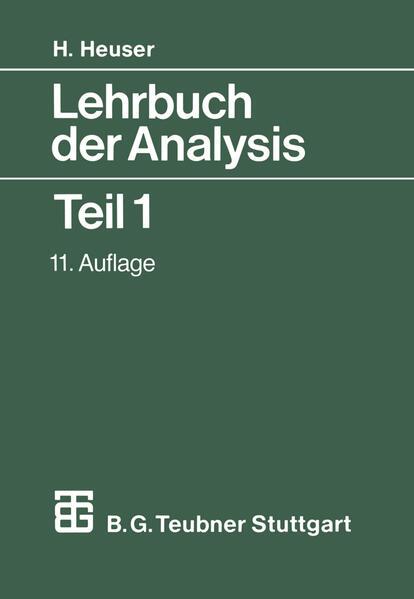 Lehrbuch der Analysis - Coverbild