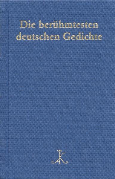 Die berühmtesten deutschen Gedichte - Coverbild