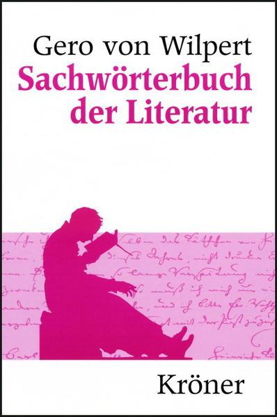 Sachwörterbuch der Literatur - Coverbild