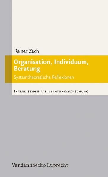 Organisation, Individuum, Beratung - Coverbild