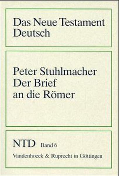 Der Brief an die Römer - Coverbild