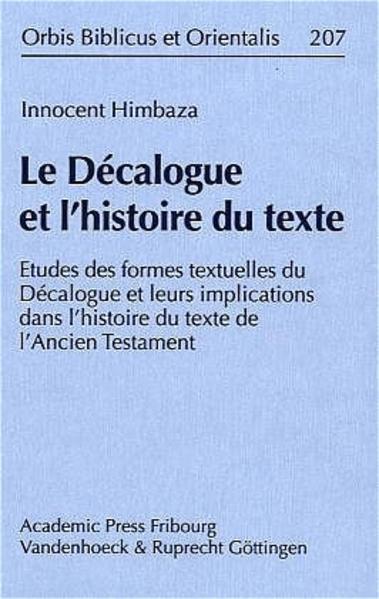 Le Décalogue et l'histoire du texte - Coverbild