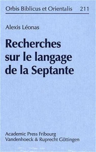 Recherches sur le langage de la Septante - Coverbild