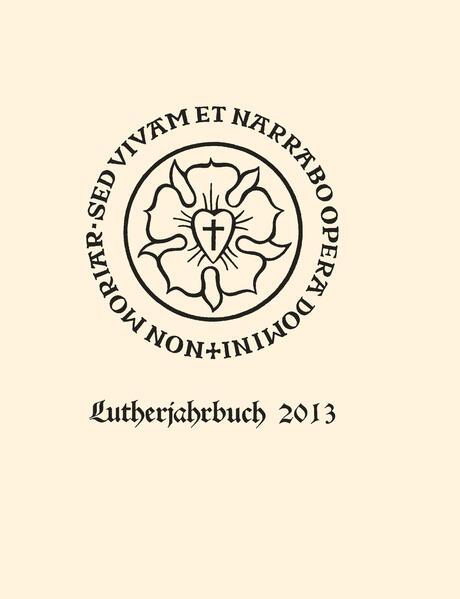 Lutherjahrbuch 80. Jahrgang 2013 - Coverbild