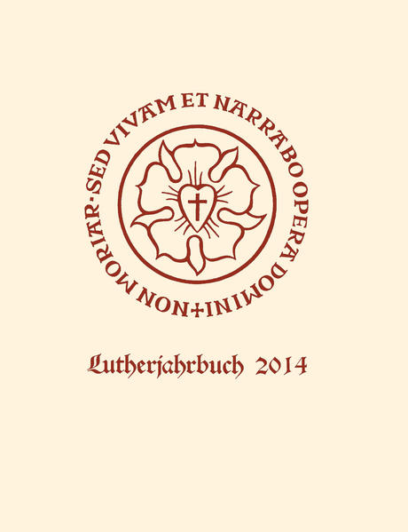 Lutherjahrbuch 81. Jahrgang 2014 - Coverbild