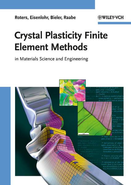 Crystal Plasticity Finite Element Methods - Coverbild